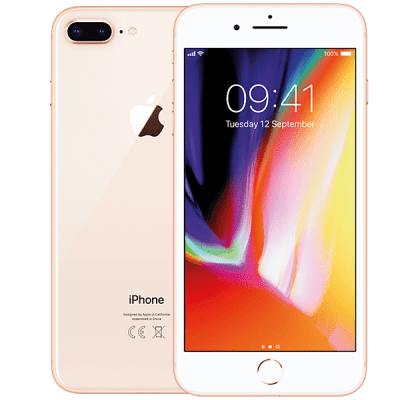 Apple iPhone 8 Plus Gold Three Unltd Allowances for £42 (24m)