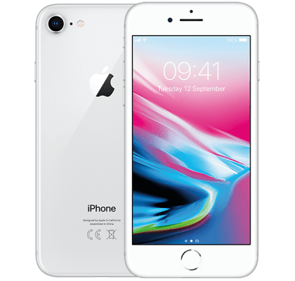 Apple iPhone 8 Silver Three Unltd Allowances for £36 (24m)