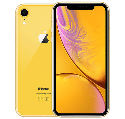 Apple iPhone XR 128GB Yellow O2 Unltd Allowances for £0 (0m)