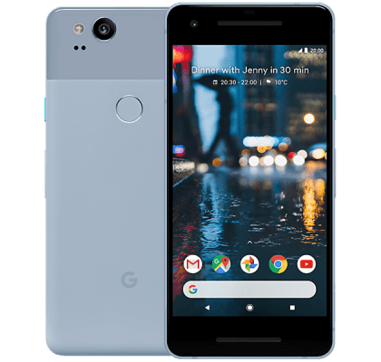 Google Pixel 2 Blue O2 Mobile Contract