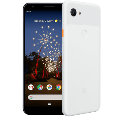 Google Pixel 3a XL White EE Upgrade Unltd Allowances for £34 (24m)