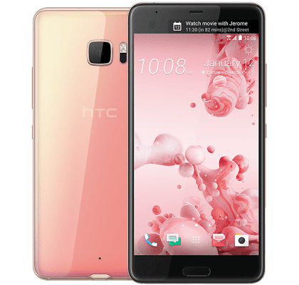 HTC U Ultra Pink Google Home