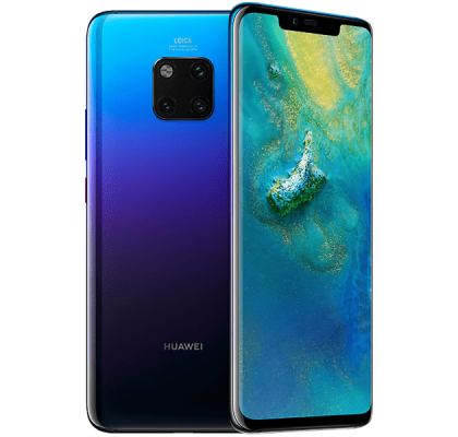 Huawei Mate 20 Pro Twilight Three Unltd Allowances for £36 (24m)