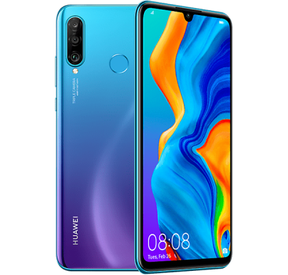 Huawei P30 Lite Blue O2 Unltd Allowances for £21 (1m)