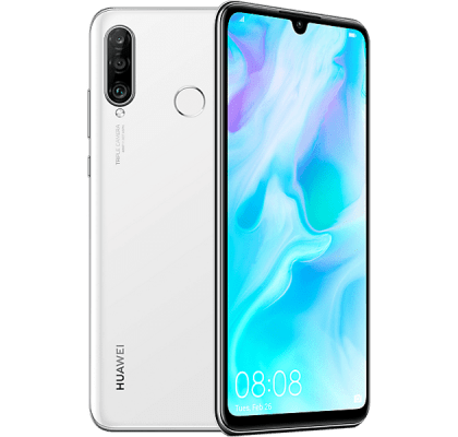 Huawei P30 Lite White EE Unltd Allowances for £20 (24m)