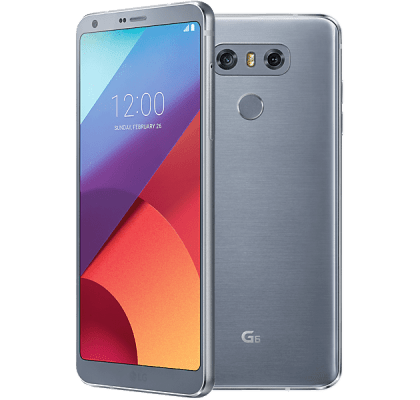 LG G6 Silver O2 Mobile Contract