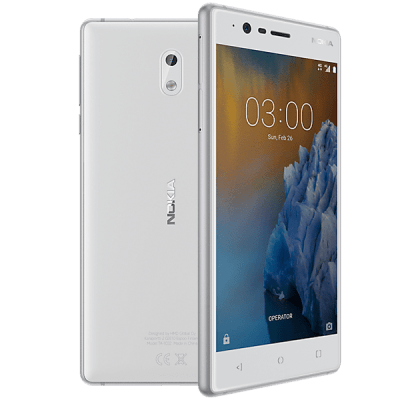 Nokia 3 Silver O2 Mobile Contract