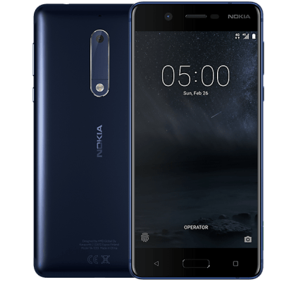Nokia 5 Blue Headphone and Speakers