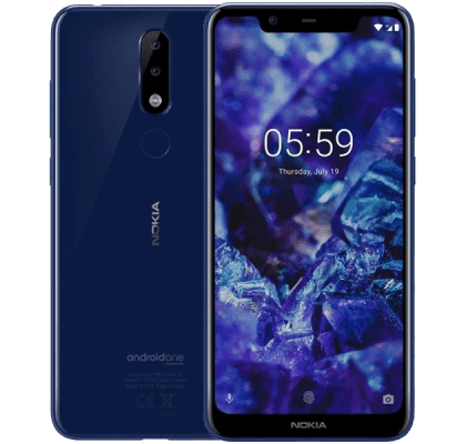 Nokia 5.1 Plus Blue Guaranteed Cashback