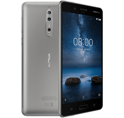 Nokia 8 Silver Headphone and Speakers