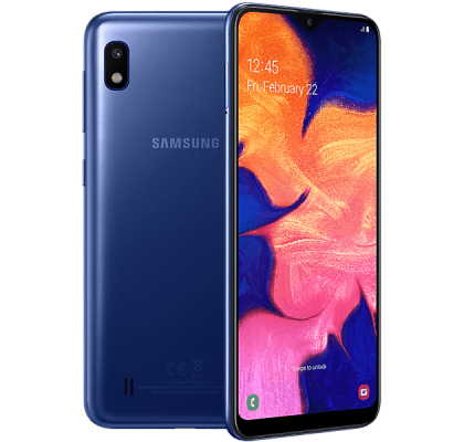 Samsung Galaxy A10 Blue O2 Unltd Allowances for £51 (24m)