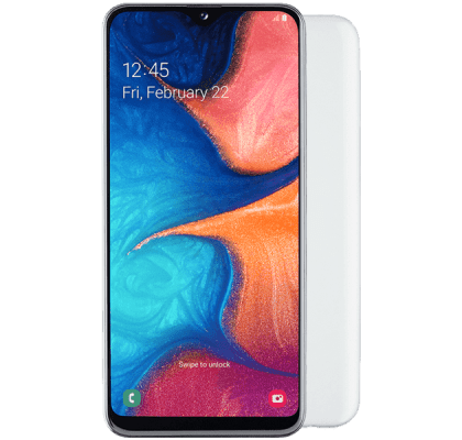 Samsung Galaxy A20e White Guaranteed Cashback