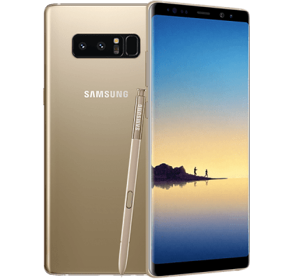Samsung Galaxy Note 8 Gold Three Mobile Contract