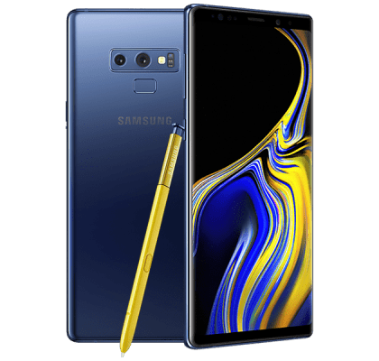 Samsung Galaxy Note 9 Blue Three Unltd Allowances for £36 (24m)