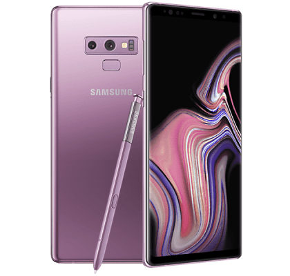 Samsung Galaxy Note 9 Purple 36 months contract