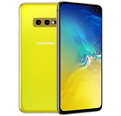 Samsung Galaxy S10e Yellow O2 Unltd Allowances for £0 (0m)