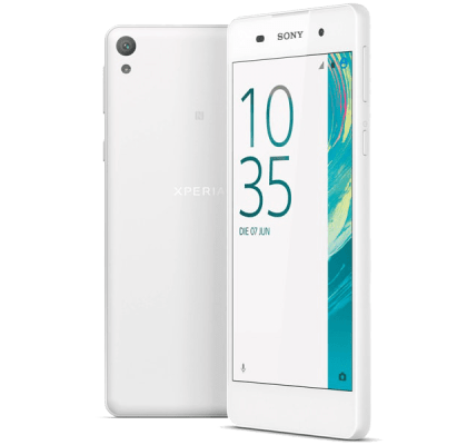 Sony Xperia E5 White Beauty and Hair