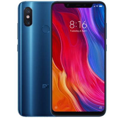 Xiaomi Mi 8 Blue Three Unltd Allowances for £43 (24m)
