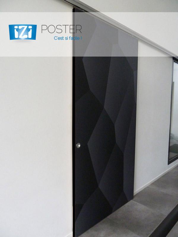 imprimez vos portes de placard avec le poster adh sif. Black Bedroom Furniture Sets. Home Design Ideas