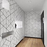 Faites une entrée remarquée avec le papier peint motifs géométriques !