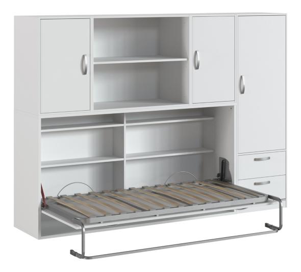lit escamotable 90x190 cm pratiko avec