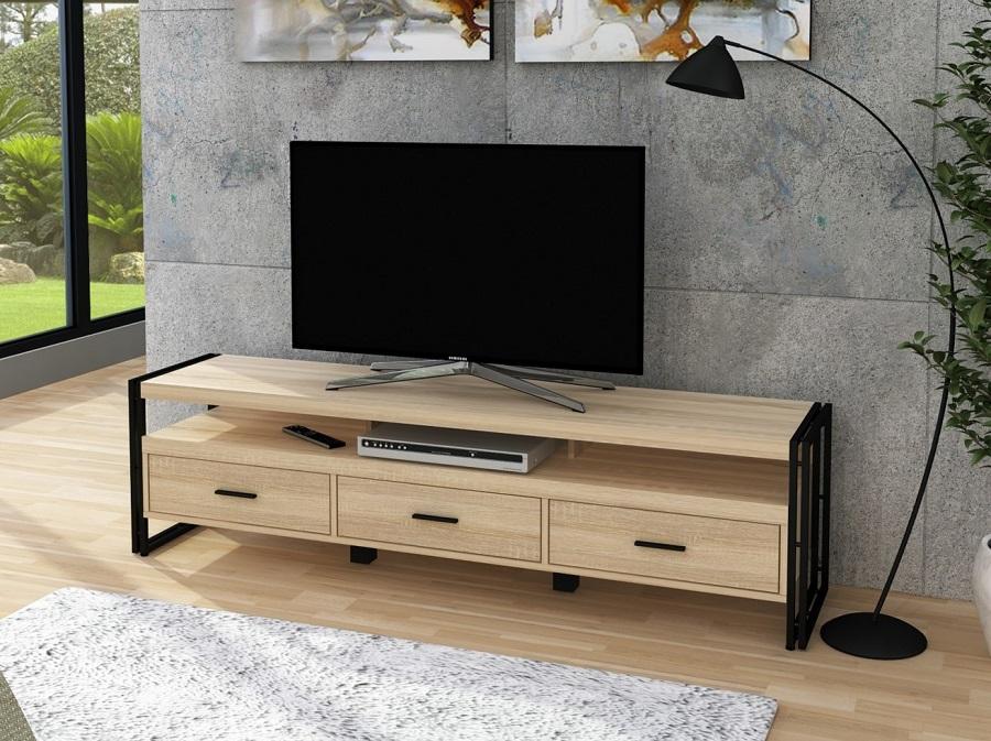 meuble tv style industriel parker pas
