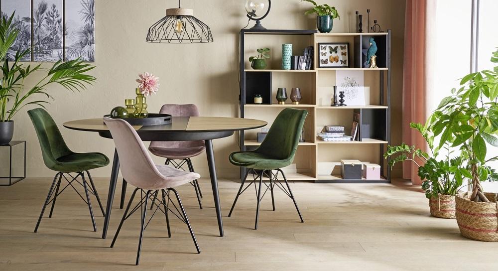 table ronde celine imitation chene