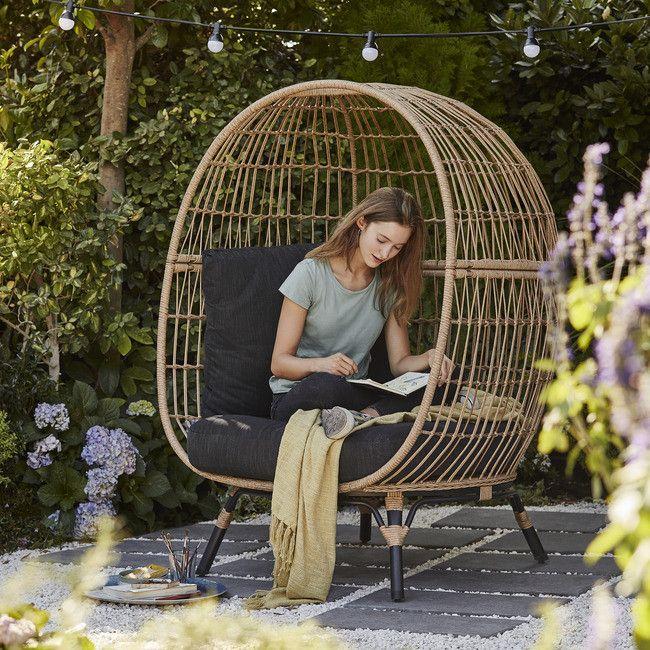 fauteuil oeuf de jardin goodhome