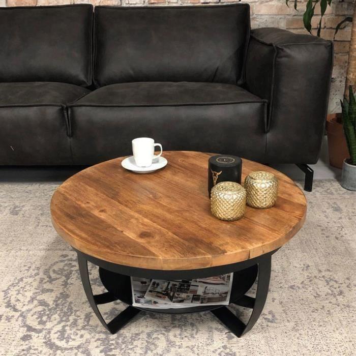 table basse industrielle autour baldo
