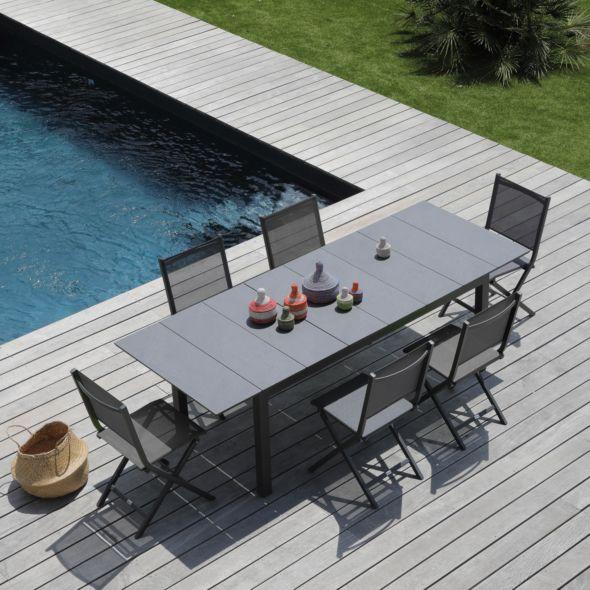 table de jardin tahaa aluminium hpl pas