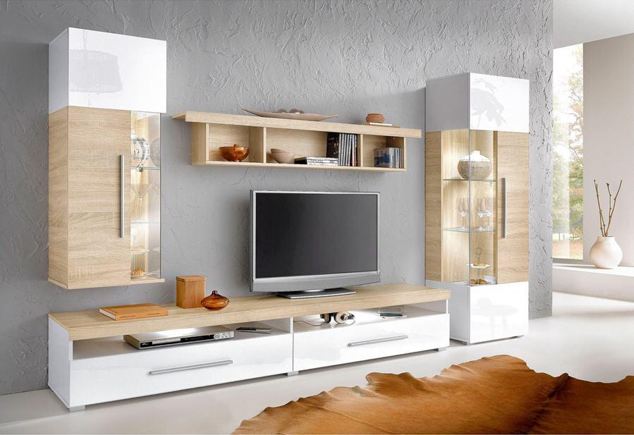 ensemble mural tv 4 elements meuble