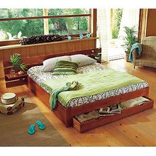 Lit La Maison De Valerie Lit 140 X 190 Cm Sommier 2 Chevets Havana Exotique Iziva Com
