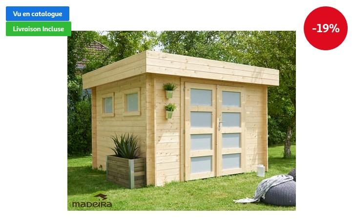 abri jardin bois bilbao toit plat 6 69