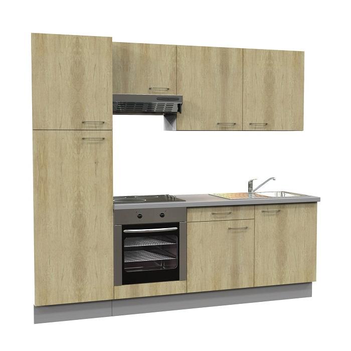 Cuisine Equipee Leroy Merlin Cuisine Equipee Imitation Chene Clair Electromenager Inclus Iziva Com