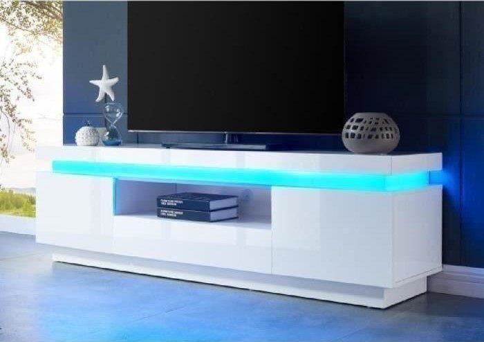 flash meuble tv avec led contemporain