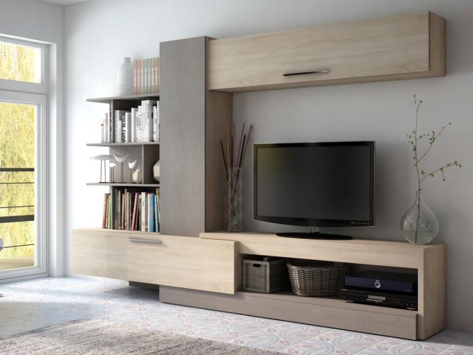 mur tv spike avec rangements meuble