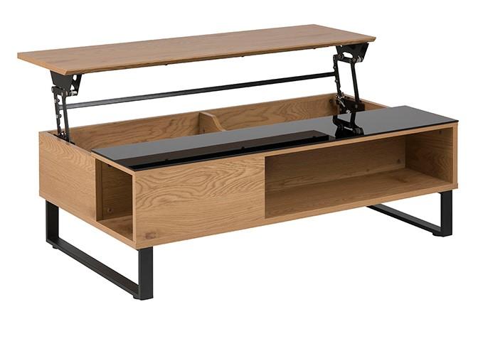 table basse relevable wynn en bois et