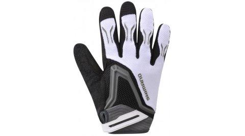 Shimano Free Ride Glove Uzun Eldiven Beyaz XL