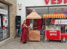 Kahveci Güzeli ve Pamuk Şekerci Kiralama Bodrum Açılış Organizasyonu