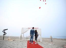 Kırmızı Kalpli Uçan Balonların Gökyüzüyle Buluştuğu Anlar