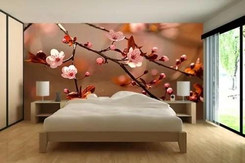papier peint chambre fleurs de