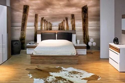 papier peint chambre plage