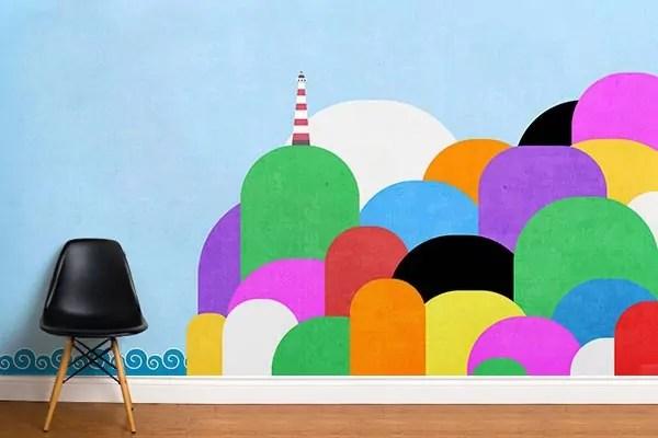 Papier Peint Chambre Enfant Phare Color Izoa