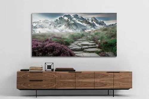 Grand Tableau Salon Moderne Chemin Nirvana