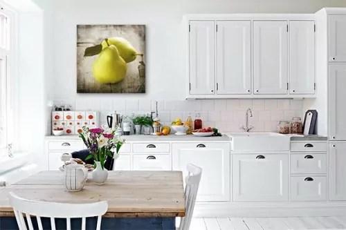 tableau decoration cuisine poires