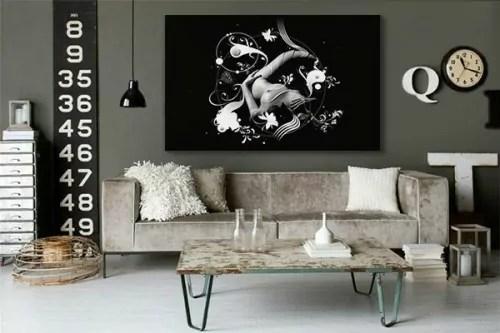 Tableau Xxl Sensuality Toile Noir Et Blanc Design Grand Format