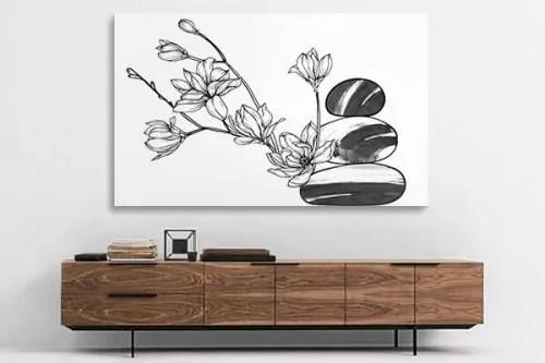 Tableau Zen Noir Et Blanc Chance Idee Decoration Interieure