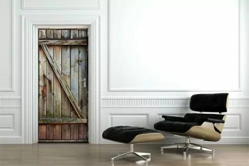 sticker porte bois decoration