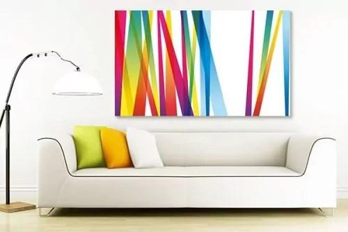tableau lignes abstraites