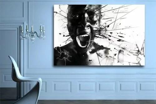 toile design scream by damien seppoloni